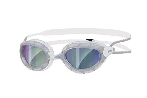 Zoggs Predator Mirror Schwimmbrille, Grey/White/Mirror, One Size