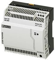 Rail Mount Power Supply (PSU, DIN RAIL, 24V, 4.2A STEP-PS/1AC/24DC/4.2 By PHOENIX CONTACT)