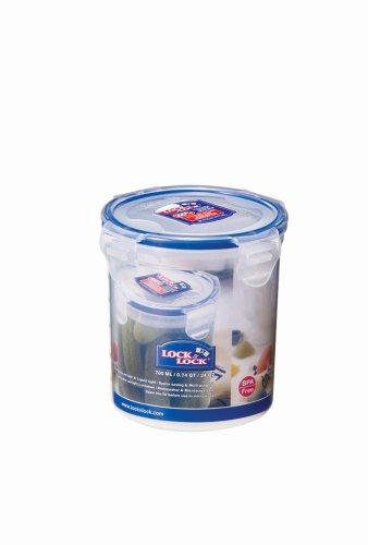 LOCK & LOCK HPL932D Round Jar 0.7L Blue, transparent 1pc (S) Food Storage Container-Food Storage, (114mm, 114mm, 117mm, 1PC (S)) Classic Storage Jar