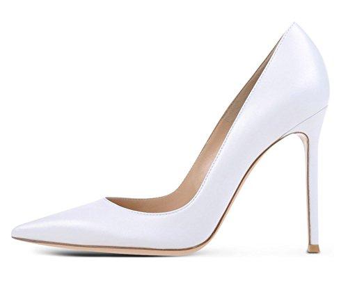 EDEFS - Scarpe col tacco donna - High Heels Sexy - Decolte Donna Tacco Alto - Tacchi a Spillo Bianco