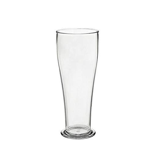 CRISTALICA Weizenbierglas Bierbecher Stadion-Glas aus Kunststoff 500ml