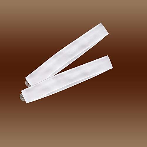 Dekoschals von kollektion.MT Raffhalter Uni weiß 2018115   Raffbänder Uni weiß 3 x 30 cm
