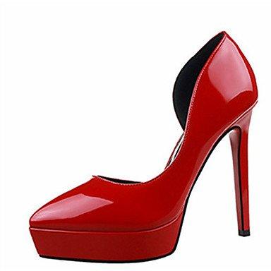 Moda Donna Sandali Sexy donna tacchi tacchi estate pu Casual Stiletto Heel altri nero / viola / rosso / grigio chiaro / fucsia / Mandorla Altri fuchsia