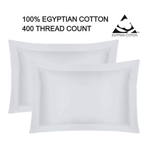 GoldStar Hotel calidad 400hilos par de fundas de almohada Oxford 100% algodón egipcio