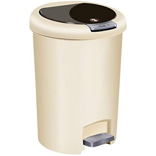 Leqi Multi-Function Trash can FJZ Pedal Mülleimer Handpresse Papierkorb Wc Wc Trash Home Küche Wohnzimmer Flip 10L Kreative Mülleimer (Küche Schritt Papierkorb Kann 13 Gallone)