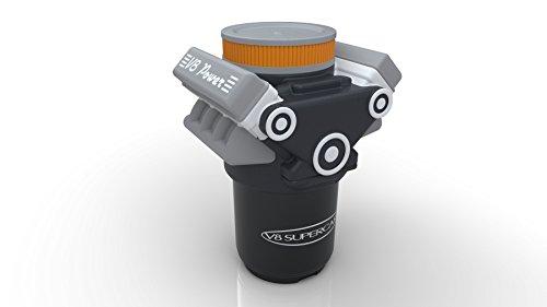 Talking V8motor magnético abrebotellas por Bottlepops | novedad Abridor de botella de cerveza con una simple Empuje hacia abajo automático de la parte superior de la botella Remover. 20único y divertido sonidos con cada apertura.