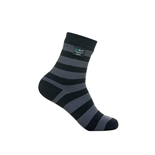 Dexshell Herren Bamboo Ultralite Socken, Schwarz/Grau, Size 6-8