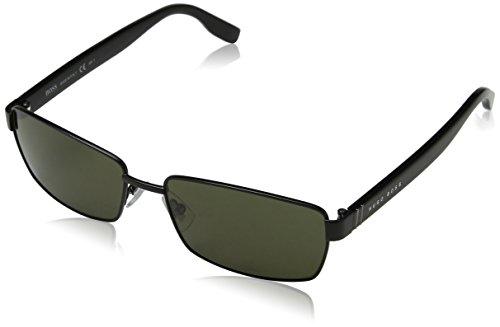 BOSS Hugo Herren 0475/S 70 10G Sonnenbrille, Schwarz (Mtblk Black/Brown), 58
