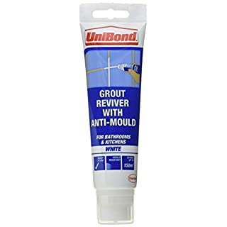 UniBond Anti-Mould Grout Reviver for Floors and Walls Tube and Sponge - 125ml, White