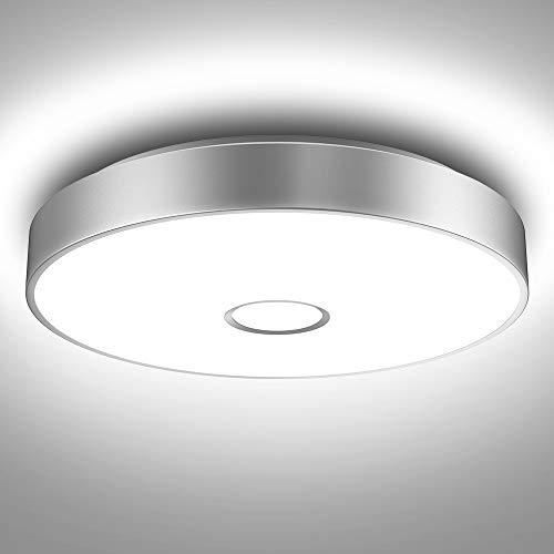 Onforu Deckenleuchte LED 32W, IP65 Wasserdicht Deckenlampe Badezimmer, Superhelle 2800lm Küchenlampe, 5000K Klatweiß Badezimmerlampe Lampe für Schlafzimmer, Bad,Küche, Wohnzimmer, Büro.