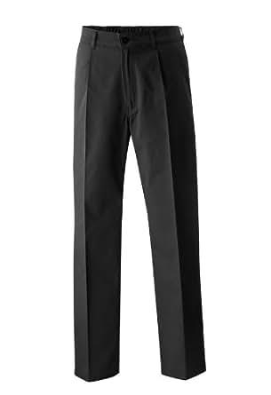 Kochhose Bäckerhose Berufsbekleidung Hose mit Gummizug Schwarz in Gr. 38 = Damen 30