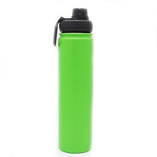 Yitye doppio in acciaio inox sport bottiglia d' acqua per bere tazza termica da viaggio escursionismo & design moderno, 800ml, green