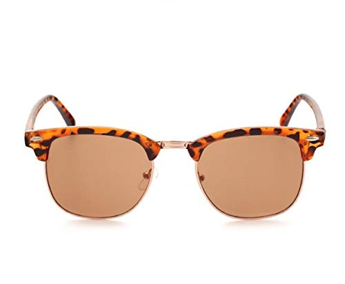 SKNSM Cool gafas de sol Hombres Mujeres Moda Gafas de sol de estilo leopardo UV400 Medio gafas de sol de...