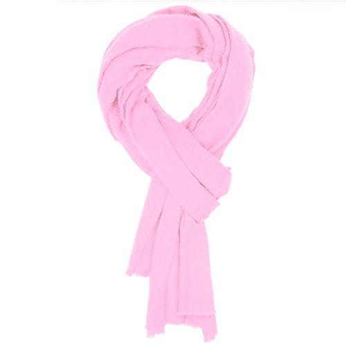 Cachemire sciarpa da donna uomo lana scialle pashmina rosa 1