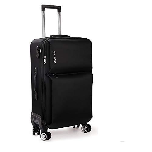 LLdy uomini e donne trolley valigia trolley per bambini universale ruota portatile 20-26 pollici (3 colori), 24, ruota nera dell'aereo