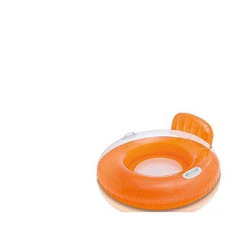 Pool Lounger / Poollounger / Poollounge / Luftmatratze / Chair / Lounge Chair / 102 cm Durchmesser / mit Haltegriff / Sessel oder coole Liege. / strapazierfähiges, geprüftes Vinyl-Material / Sessel Lounge Im Sommer entspannen... Ob alleine oder mit Freunden, mit der Lounge ist dies auf dem See oder im Pool kein Problem. Eine bequeme Rückenlehne bietet angenehmen Sitzkomfort. Die Lounge kann zu einer Chill-Zone werden. Relaxen ideal für Urlaub , Camping See der ideale Wasserspass und Abkühlung an heissen Tagen (orange)