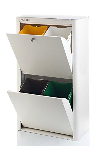 DON HIERRO - Cubo de Basura para Reciclar 4x20l cubek