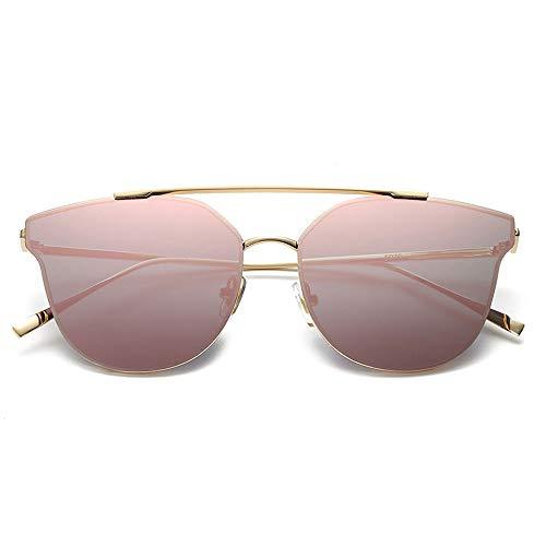 RMJCZQX Sonnenbrille Mode farbfilm Sonnenbrille männer und Frauen Trend Sonnenbrille Street Shot Reise Sonnenschirm Spiegel (Sakura pink)