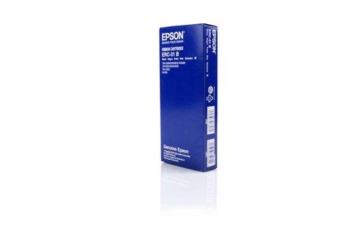 Preisvergleich Produktbild Original Farbbänder passend für Huth T 450 Series Epson C43S015231 , ERC31B C43S015369 - Premium Nylonband - Schwarz