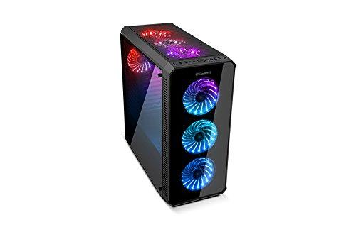 NOX Hummer TG RGB Torre Negro carcasa de ordenador - Caja de ordenador