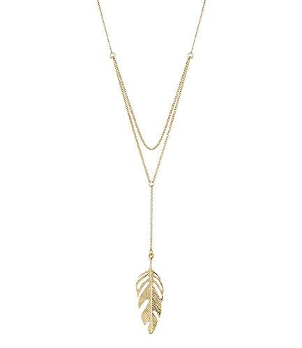 six-frhling-lange-gold-farbene-damen-halskette-58-cm-mit-zartem-blatt-feder-anhnger-cut-out-natur-la