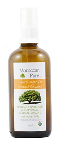 Moroccan Pure Agan Oil Cold Pressed 100% Organic Orange and Bergamot for Hair and Skin (Duftende Feuchtigkeitsspendende Lotion)