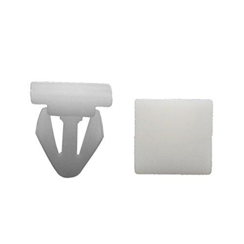 Preisvergleich Produktbild sourcingmap® 100stk Universal Auto Weiß Plastik Trim Nieten Push in Clip Fit 11mm Dmr Bohrung