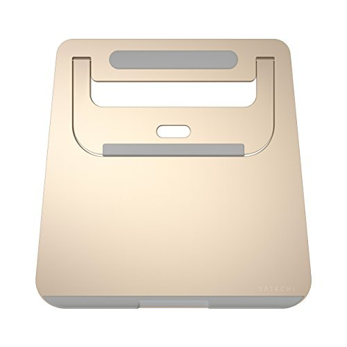 Satechi Aluminium Tragbarer & Verstellbarer Laptop Stand, Klappbarer und leichter Stand für Laptops, Notebooks, und Tablets (Gold) Gold Stand