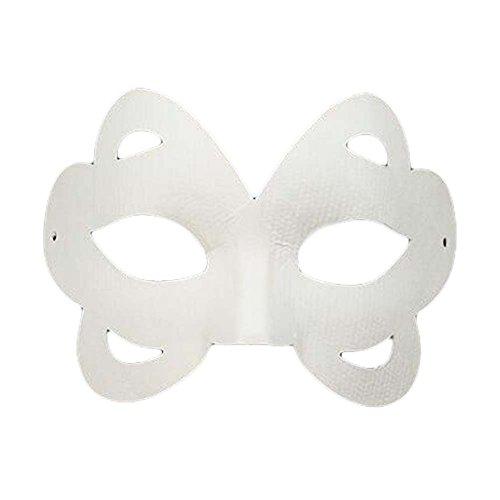 10 Stück Schmetterling weiße Maske Handgemalte Augenmaske DIY Papiermaske Kostüm Maske