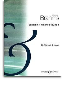 Johannes Brahms: Sonata Op.120 No.1 In F Minor. Partitions pour Clarinette, Accompagnement Piano