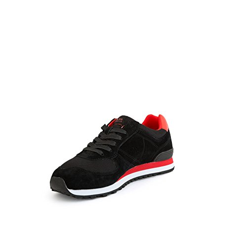 Guess Sneakers Jeans Uomo Fmcha1 Lea12gjblkr Nero Eh061fmcha1-lea12gjblkr Nero / Rosso