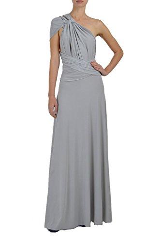 Von Vonni Transformer-Kleid, lang - One Size Fits USA 2-10 - Silber