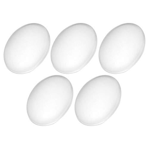 Healifty Cabochon aus Glas, rund, flach, Design Cúpula für Modeschmuck, 30 x 40 mm, 50 Stück - Perlen 30 Kapseln
