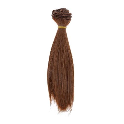 15x100cm DIY Perücke Glattes Haar Für BJD SD Barbie-Puppen # 16 - Brau, 34/75