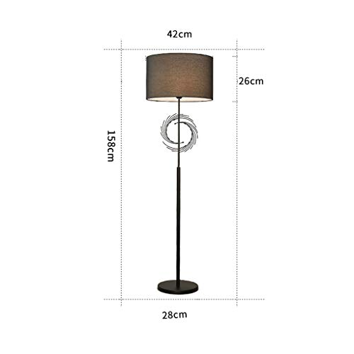 Tischlampe europäischen Stil Wohnzimmer Fussboden, Bettwäsche Shade Schlafzimmer Eisen Fuß...