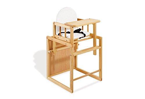Pinolino - 151303 - Kombihochstuhl Nele - leicht umbaubar zur Stuhl-Tisch-Kombination - Maße 44 x 50 x 88 cm (Weichen Fensterleder Trockenen,)