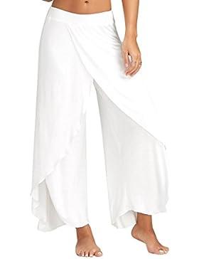 CICIYONER Suelta Pantalones de Yoga Cintura Ancha Pantalones fluidos Mujeres Ocasionales de Verano Largo