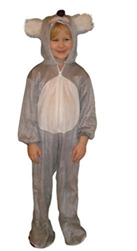 Koala-Bär Kostüm, J42/00, Gr. 104-110, für Kinder, Koala-Kostüme Koala-Bären für Fasching Karneval, Klein-Kinder Karnevalskostüme, Kinder-Faschingskostüme, Geburtstags-Geschenk Weihnachts-Geschenk