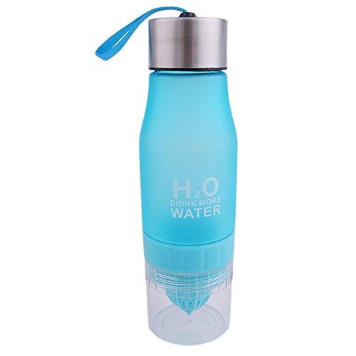 Zitrone / Frucht Infuser Wasserflasche, Zitrone Squeezer, Obst Infuser Cup, Loading Obst Infusion, Outdoor Sport Saft Wasserflaschen, BPA frei Trinkflaschen Blau
