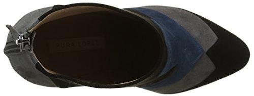 Pura Lopez Aj272, Bottes Classiques Femme Multicolore (Black/Grey/Ocean/Testa)