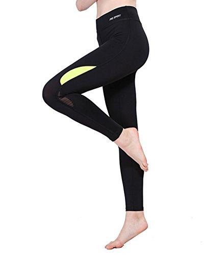 Leggings Pantalon de Sport Femme Yoga Fitness Gym Sport Pantalon Jogging Collant de Sport Vert