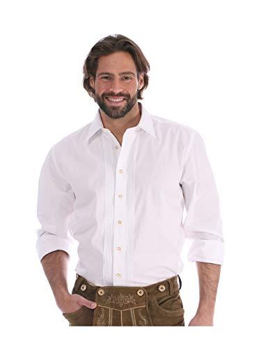 Almsach Trachtenhemd Klassiker Hemdkragen Ascan Weiss, L