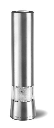 Cole & Mason Electronic Precision Hampstead Stainless Steel Salt Mill With LED Light - Silver by Cole & Mason