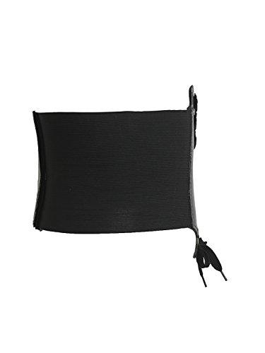 Simplee Apparel le donne di pelle di merletto elastica corsetto vita cincher cintura Nero
