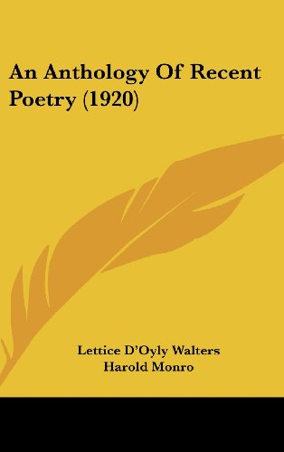 An Anthology of Recent Poetry (1920)