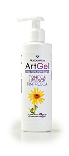 Vonderweid ArtGel - Crema in gel di Aloe Arborescens e Aloe Vera biologiche con Arnica, Artiglio del Diavolo ed Olio essenziale di Menta - 250 ml