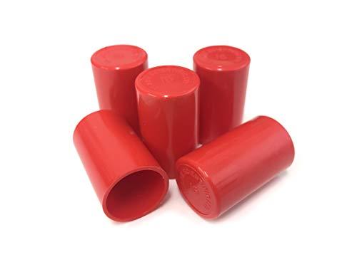 Clark Scientific Reagenzglas-Verschluss aus Polypropylen, autoklavierbar 13 mm, 100 Stück, rot, 100