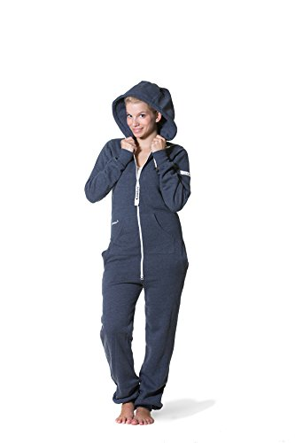 Jumpster Damen und Herren Jumpsuit Weicher Onesie Exquisite Regular Fit Blau S - 3