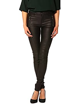 Vero Moda Damen Hose schwarz schwarz