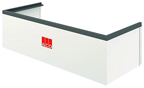 ACO Therm Lichtschacht-Aufsatz höhenverstellbar Aufstockelement INKLUSIVE Montageset und Aussteifungsrahmen 100 x 34 x 40 cm
